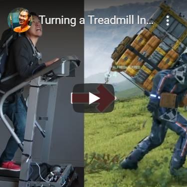 この男、Death Stranding(デス・ストランディング)の歩く操作をランニングマシーンで再現。